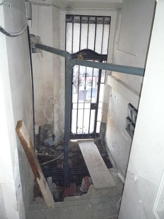 rehabilitación de edificio - entrada