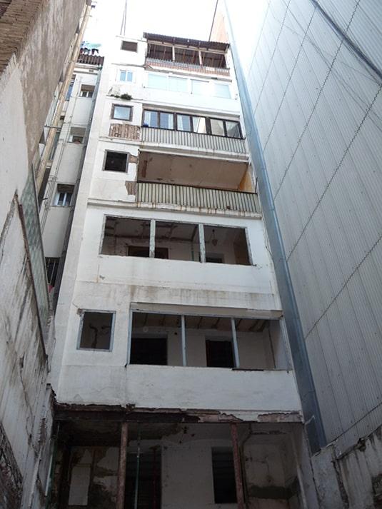 rehabilitación de edificio - patio interior