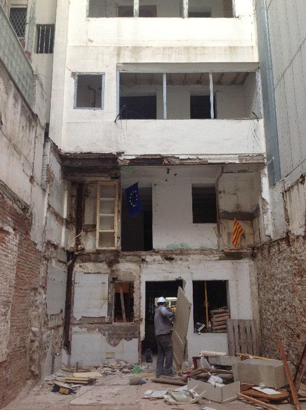 rehabilitación de edificios en calle diputació barcelona